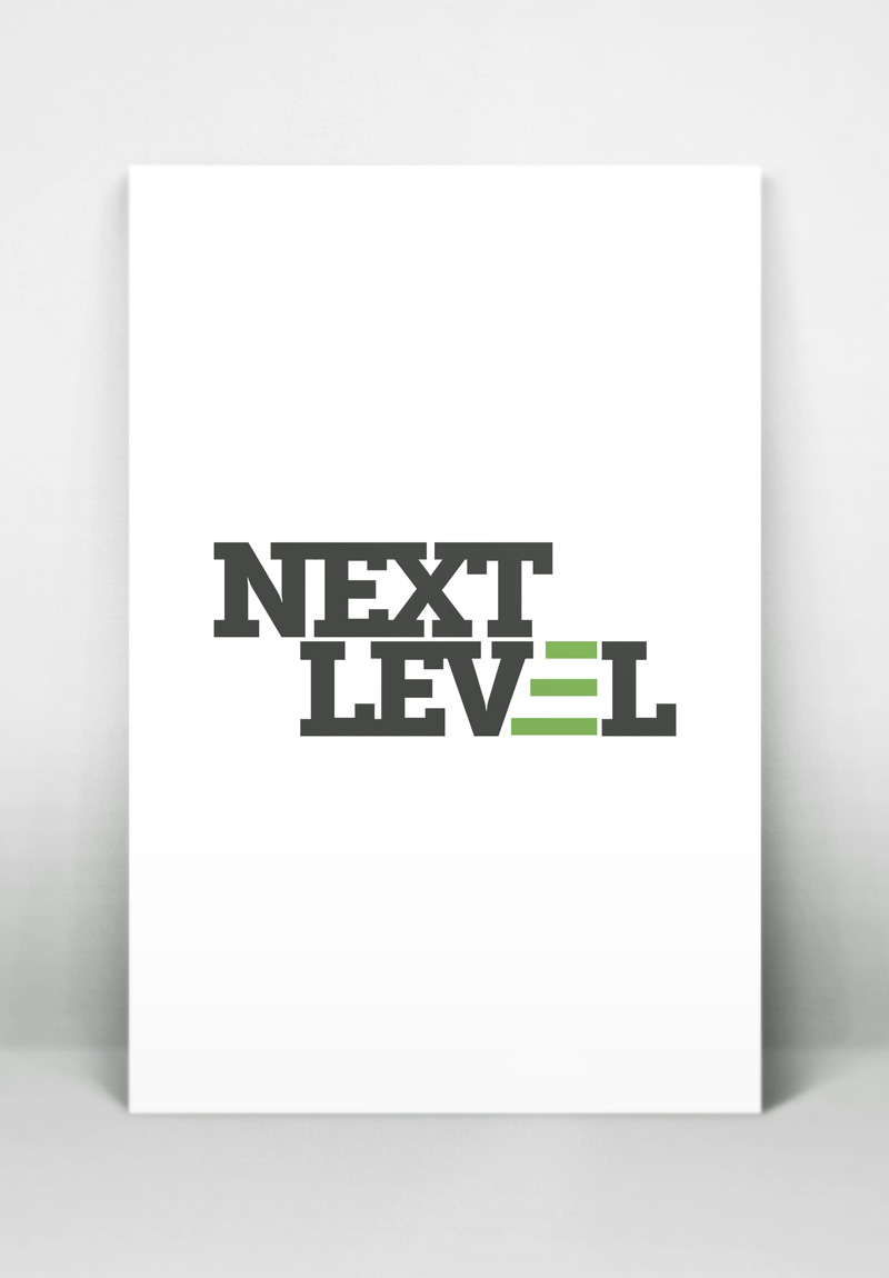 Next Level Men's Ministries Logo, by Kathy Jimenez, Graphic Designer