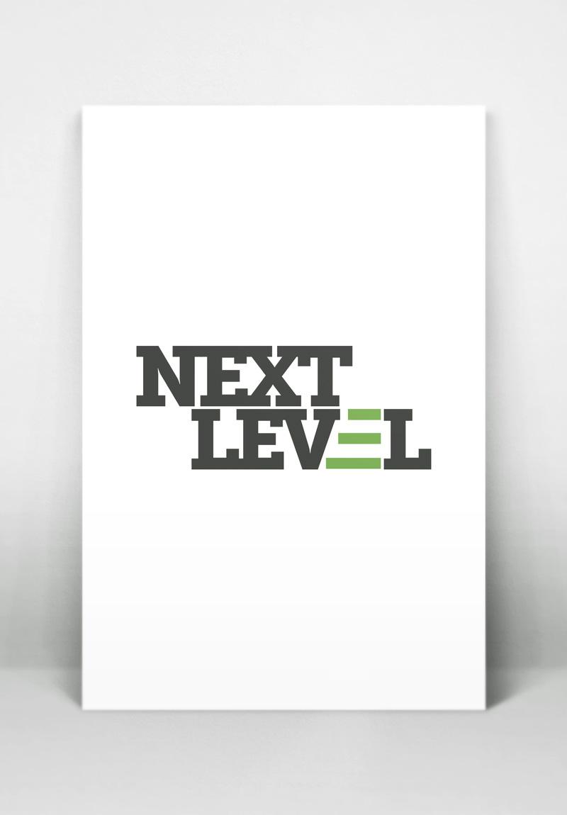 Next Level Men's Ministries Logo, by Kathy Jimenez, Graphic Designer